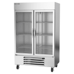 "Beverage Air HBR49HC-1-G 52"" Two Section Reach In Refrigerator, (2) Left/Right Hinge Glass Doors, 115v"