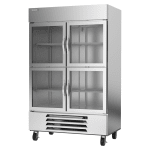 "Beverage Air HBR49HC-1-HG 52"" Two Section Reach-In Refrigerator, (4) Glass Door, 115v"