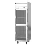 "Beverage Air HR1HC-1HG 26"" Single Section Reach-In Refrigerator, (2) Glass Doors, 115v"