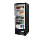 """Beverage Air LV121BLED 24"""" One-Section Glass Door Merchandiser w/ Swing Door, 115v"""