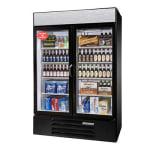 """Beverage Air LV49HC-1-W 52"""" Two-Section Glass Door Merchandiser w/ Swing Doors, 115v"""