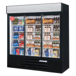 "Beverage Air LV66HC-1-B 75"" Three-Section Glass Door Merchandiser w/ Sliding Doors, 115v"