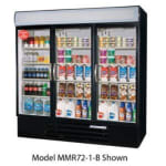 "Beverage Air MMF72-5-B-LED 75"" Three-Section Display Freezer w/ Swinging Doors - Bottom Mount Compressor, 208v/1ph"