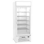 """Beverage Air MMR27HC-1-W 30"""" One-Section Glass Door Merchandiser w/ Swing Door, 115v"""