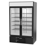 "Beverage Air MMR44HC-1-B 47"" Two-Section Glass Door Merchandiser w/ Swing Door, 115v"