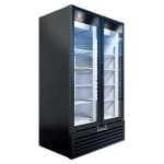"Beverage Air MT49-1B 47"" Marketeer™ Two-Section Glass Door Merchandiser w/ Swing Doors, Black, 115v"