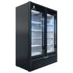 """Beverage Air MT53-1B 54"""" Two Section Glass Door Merchandiser w/ Swing Doors, 115v"""