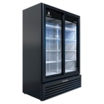 "Beverage Air MT53-1-SDB 54"" Marketeer™ Two-Section Glass Door Merchandiser w/ Sliding Doors, Black, 115v"