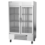"Beverage Air RB49HC-1G 52"" Two Section Reach-In Refrigerator, (2) Glass Doors, 115v"