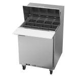 "Beverage Air SPE27HC-12M-B 27"" Sandwich/Salad Prep Table w/ Refrigerated Base, 115v"