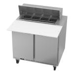 "Beverage Air SPE36HC-08C 36"" Sandwich/Salad Prep Table w/ Refrigerated Base, 115v"