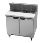 "Beverage Air SPE36HC-10 36"" Sandwich/Salad Prep Table w/ Refrigerated Base, 115v"