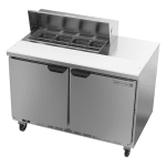 "Beverage Air SPE48HC-08 48"" Sandwich/Salad Prep Table w/ Refrigerated Base, 115v"