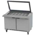 "Beverage Air SPE48HC-18M-STL 48"" Sandwich/Salad Prep Table w/ Refrigerated Base, 115v"