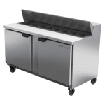 "Beverage Air SPE60HC-16 60"" Sandwich/Salad Prep Table w/ Refrigerated Base, 115v"