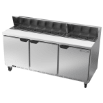 "Beverage Air SPE72HC-18 72"" Sandwich/Salad Prep Table w/ Refrigerated Base, 115v"
