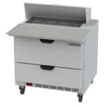 "Beverage Air SPED36HC-08C-2 36"" Sandwich/Salad Prep Table w/ Refrigerated Base, 115v"