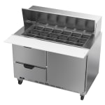 """Beverage Air SPED48HC-18M-2 48"""" Sandwich/Salad Prep Table w/ Refrigerated Base, 115v"""
