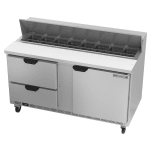 "Beverage Air SPED60HC-16-2 60"" Sandwich/Salad Prep Table w/ Refrigerated Base, 115v"