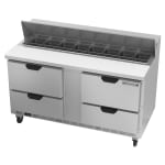 "Beverage Air SPED60HC-16-4 60"" Sandwich/Salad Prep Table w/ Refrigerated Base, 115v"