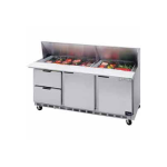 """Beverage Air SPED72-18-2 72"""" Sandwich/Salad Prep Table w/ Refrigerated Base, 115v"""