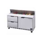 """Beverage Air SPED72-30M-2 72"""" Sandwich/Salad Prep Table w/ Refrigerated Base, 115v"""
