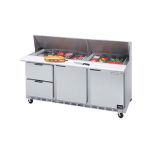 "Beverage Air SPEDP72-30M-2 72"" Sandwich/Salad Prep Table w/ Refrigerated Base, 115v"