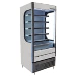 "Beverage Air VM12-1-W-LED 35"" Vertical Open Air Cooler w/ (6) Levels, 115v"