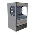 """Beverage Air VM7-1-G-LED 35"""" Vertical Open Air Cooler w/ (4) Levels, 115v"""