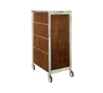 "Lakeside 645 RMAP Enclosed Bus Cart w/ (16) 14 x 18"" Shelves, Red Maple"