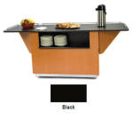 "Lakeside 6850 BLK 87.25"" Breakout Dining Station w/ 2-Compartment, Black"
