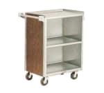 "Lakeside 810 LMAP 28.25""L Metal Bus Cart w/ (3) Levels, Shelves, Maple"
