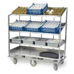 Lakeside B588 Soiled Dish Cart w/ 4-Shelves