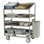 Lakeside B591 Soiled Dish Cart w/ 4 Shelves