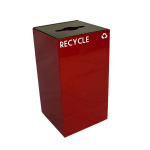 Witt 28GC04-SC 28-gal Multiple Materials Recycle Bin - Indoor, Fire Resistant