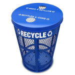 Witt EXP-52NPBL-FTR 48-gal Multiple Material Recycle Bin - Outdoor, Multiple Sections