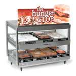 "Nemco 6480-36S 36"" Self-Service Countertop Heated Display Shelf - (2) Shelves, 120v"