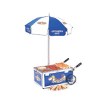 Nemco 6550-DW Mini Countertop Hot Dog Steamer Cart w/ Adjustable Thermostat, Stainless, Blue