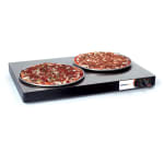 """Nemco 6301-36 36"""" Heat Shelf w/ Control Dial, .50"""" Feet, Black Sides & Stainless Surface"""