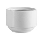 CAC BST4 7.5 oz Boston Bouillon Cup - Embossed Porcelain, Super White
