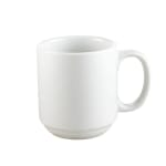 CAC PRM10P 10 oz Prime Mug - Stacking, Porcelain, Super White