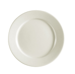 CAC REC-31 American White Rolled Edge Bread Plate, REC, Round