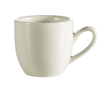 CAC REC-35 American White Demitasse Cup, REC, Round