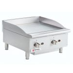 "Cecilware CE-G24TPF 24"" Gas Griddle - Manual, 1"" Steel Plate"