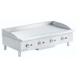"Cecilware GCP48 48"" Gas Griddle - Manual, 1"" Steel Plate"