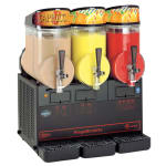 Cecilware MT3ULBL Triple Slush Machine w/ 2.5 gal/Bowl Capacity, Manual Fill, Black, 115v