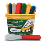 "Dexter Russell S173SC-48B 3.5"" Sani-Safe® Sandwich Spreader Set w/ Polypropylene Multi-Colored Handles, Carbon Steel"