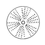 """Electrolux 650151 1/8"""" Grating Disc for Vegetable Slicer"""