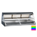 "Alto Shaam ED2-72/2S-C 2081 72"" Self-Service Countertop Heated Display Case w/ Curved Glass - (2) Levels, 208-240v/1ph"
