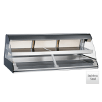 "Alto Shaam ED2-72/2S-SS 2081 72"" Self-Service Countertop Heated Display Case w/ Curved Glass - (2) Levels, 208-240v/1ph"